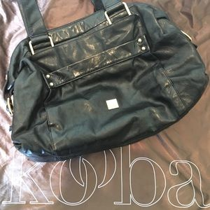 Kooba Black Leather Large Satchel